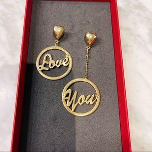 HR Love You Earrings